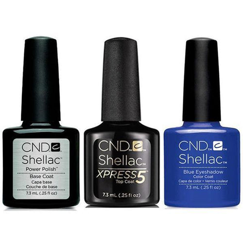 CND - Shellac Xpress5 Combo - Base, Top & Blue Eyeshadow (0.25 oz)-Beyond Polish