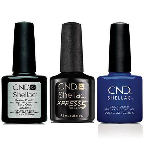 CND - Shellac Xpress5 Combo - Base, Top & Blue Moon (0.25 oz)-Beyond Polish