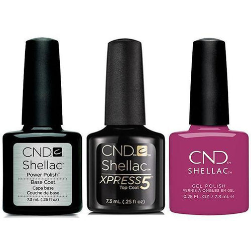 CND - Shellac Xpress5 Combo - Base, Top & Brazen (0.25 oz)-Beyond Polish