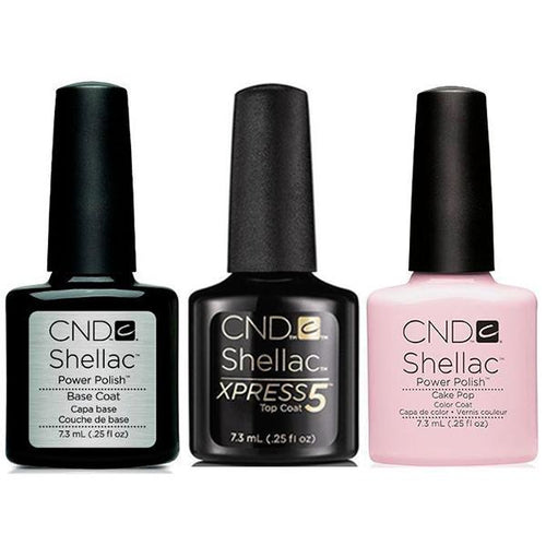 CND - Shellac Xpress5 Combo - Base, Top & Cake Pop (0.25 oz)-Beyond Polish