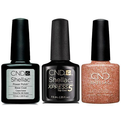 CND - Shellac Xpress5 Combo - Base, Top & Chandelier (0.25 oz)-Beyond Polish