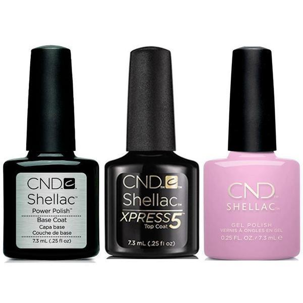 CND - Shellac Xpress5 Combo - Base, Top & Coquette (0.25 oz)-Beyond Polish