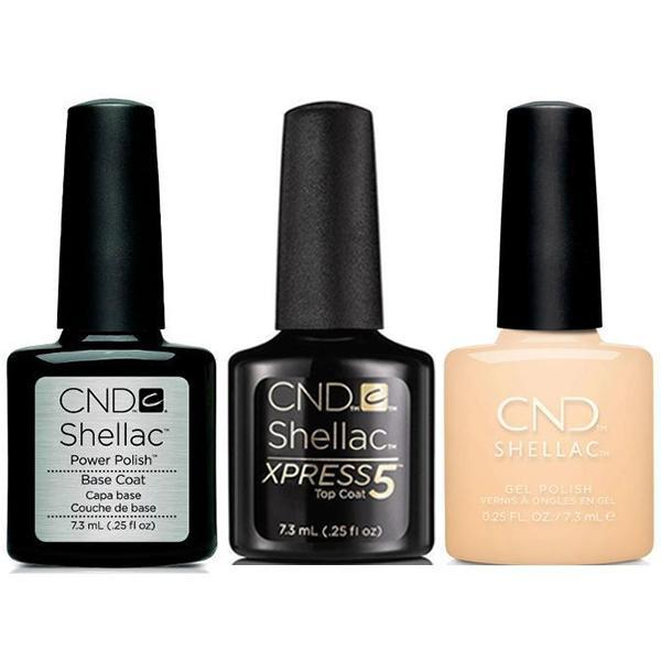 CND - Shellac Xpress5 Combo - Base, Top & Exquisite (0.25 oz)-Beyond Polish