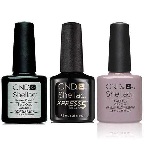 CND - Shellac Xpress5 Combo - Base, Top & Field Fox (0.25 oz)-Beyond Polish