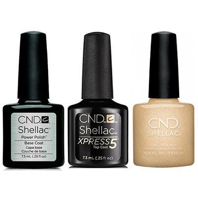 CND - Shellac Xpress5 Combo - Base, Top & Get That Gold (0.25 oz)