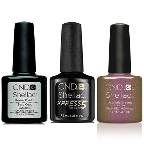CND - Shellac Xpress5 Combo - Base, Top & Hypnotic Dreams (0.25 oz)-Beyond Polish