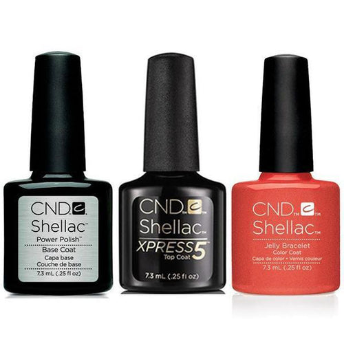 CND - Shellac Xpress5 Combo - Base, Top & Jelly Bracelet (0.25 oz)-Beyond Polish