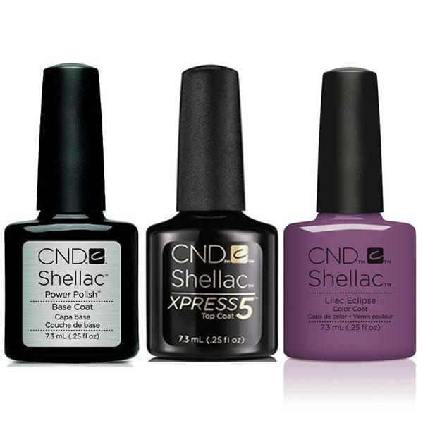 CND - Shellac Xpress5 Combo - Base, Top & Lilac Eclipse (0.25 oz)-Beyond Polish