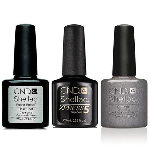 CND - Shellac Xpress5 Combo - Base, Top & Mercurial (0.25 oz)-Beyond Polish