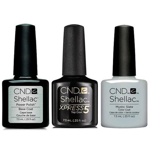 CND - Shellac Xpress5 Combo - Base, Top & Mystic Slate (0.25 oz)-Beyond Polish