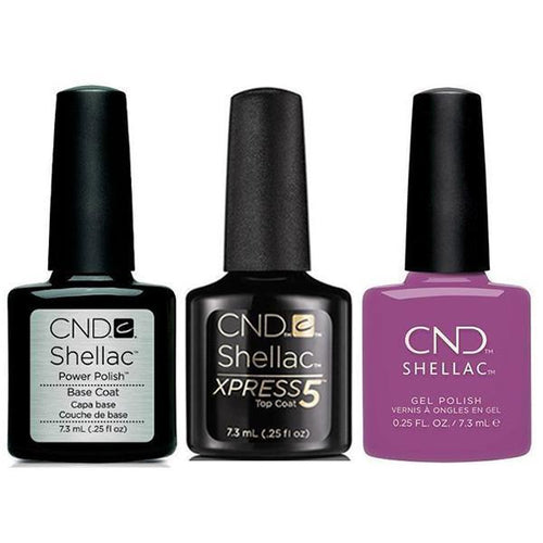 CND - Shellac Xpress5 Combo - Base, Top & Psychedelic (0.25 oz)-Beyond Polish
