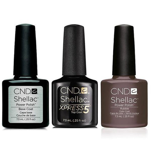CND - Shellac Xpress5 Combo - Base, Top & Rubble (0.25 oz)-Beyond Polish