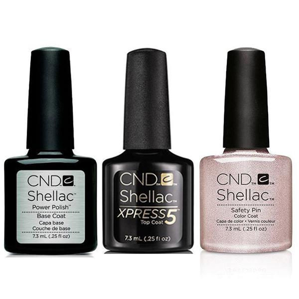 CND - Shellac Xpress5 Combo - Base, Top & Safety Pin (0.25 oz)-Beyond Polish