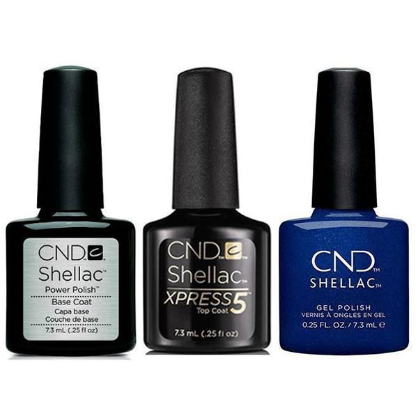 CND - Shellac Xpress5 Combo - Base, Top & Sassy Sapphire (0.25 oz)-Beyond Polish