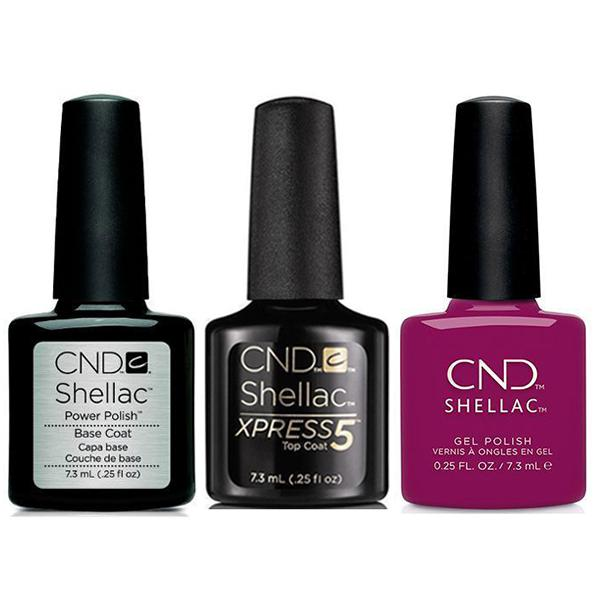CND - Shellac Xpress5 Combo - Base, Top & Secret Diary (0.25 oz)-Beyond Polish