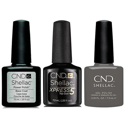 CND - Shellac Xpress5 Combo - Base, Top & Silhouette (0.25 oz)-Beyond Polish