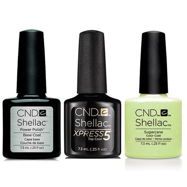 CND - Shellac Xpress5 Combo - Base, Top & Sugarcane (0.25 oz)-Beyond Polish