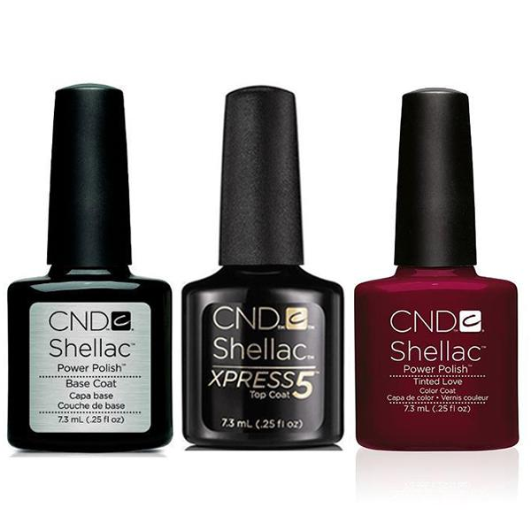CND - Shellac Xpress5 Combo - Base, Top & Tinted Love (0.25 oz)-Beyond Polish
