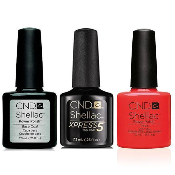 CND - Shellac Xpress5 Combo - Base, Top & Tropix (0.25 oz)-Beyond Polish