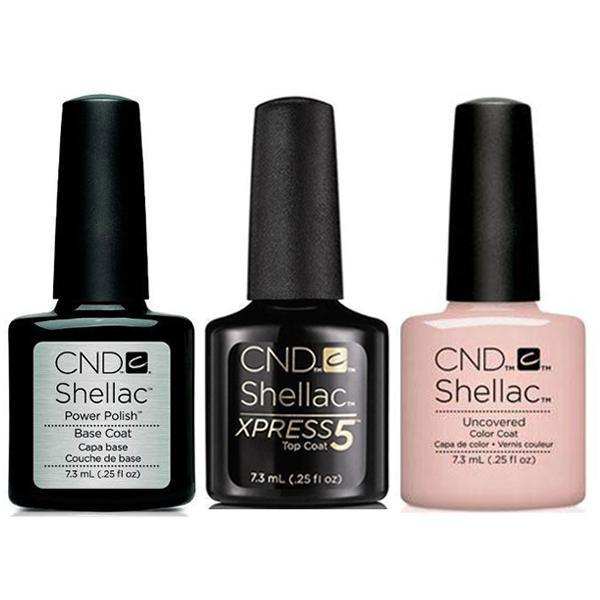 CND - Shellac Xpress5 Combo - Base, Top & Uncovered 0.25 oz-Beyond Polish