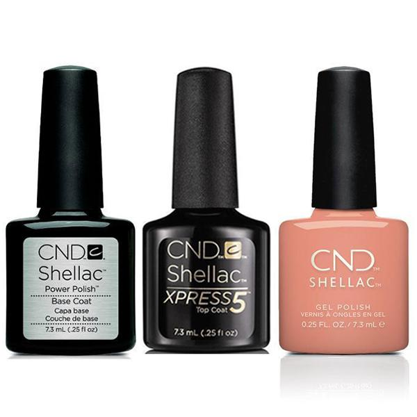 CND - Shellac Xpress5 Combo - Base, Top & Uninhibited (0.25 oz)-Beyond Polish