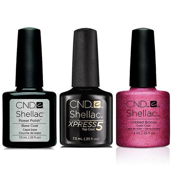CND - Shellac Xpress5 Combo - Base, Top & Untitled Bronze (0.25 oz)-Beyond Polish