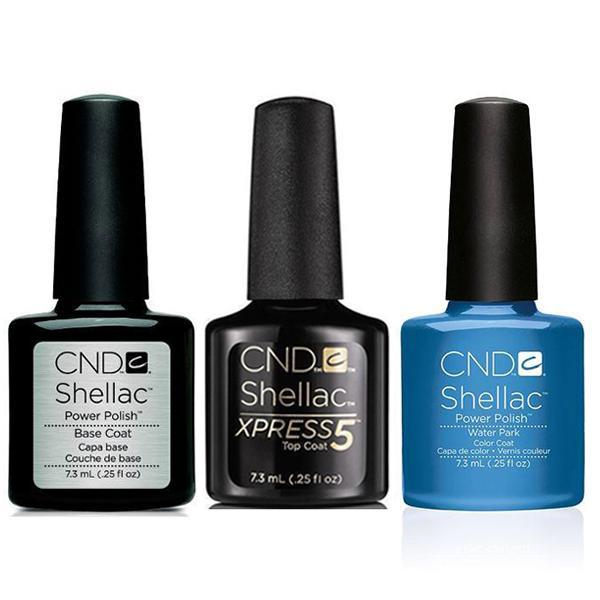 CND - Shellac Xpress5 Combo - Base, Top & Water Park (0.25 oz)-Beyond Polish