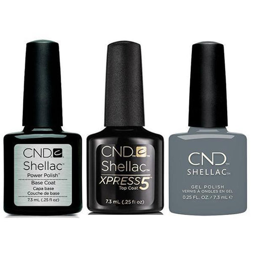 CND - Shellac Xpress5 Combo - Base, Top & Whisper (0.25 oz)-Beyond Polish