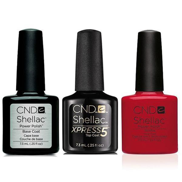 CND - Shellac Xpress5 Combo - Base, Top & Wildfire (0.25 oz)-Beyond Polish
