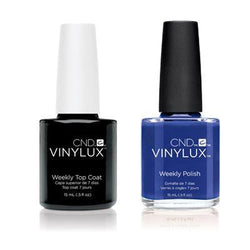 CND - Vinylux Topcoat & Blue Eyeshadow 0.5 oz - #238-Beyond Polish