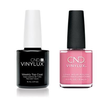 CND - Vinylux Topcoat & Kiss From A Rose 0.5 oz - #349-Beyond Polish