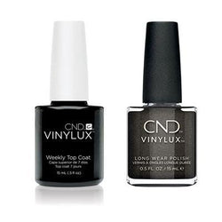 CND - Vinylux Topcoat & Powerful Hematite 0.5 oz - #334-Beyond Polish