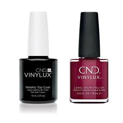 CND - Vinylux Topcoat & Rebellious Ruby 0.5 oz - #330-Beyond Polish