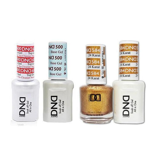 DND - #500#600 Base, Top, Gel & Lacquer Combo - 24 Karat - #584-Beyond Polish