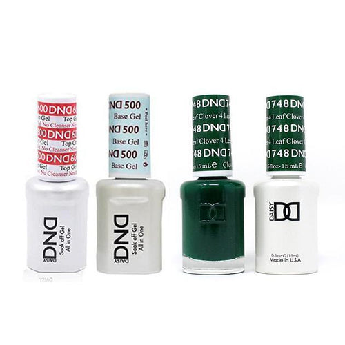 DND - #500#600 Base, Top, Gel & Lacquer Combo - 4 Leaf Clover - #748-Beyond Polish