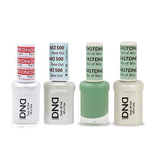 DND - #500#600 Base, Top, Gel & Lacquer Combo - Air of Mint - #427-Beyond Polish