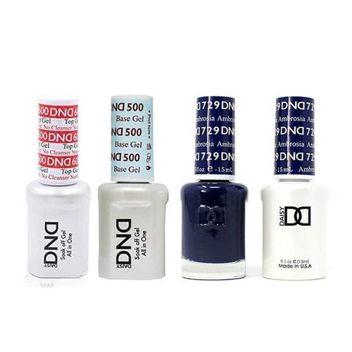 DND - #500#600 Base, Top, Gel & Lacquer Combo - Ambrosia - #729-Beyond Polish