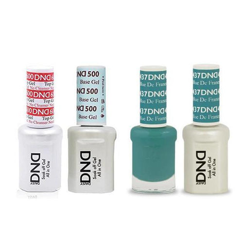 DND - #500#600 Base, Top, Gel & Lacquer Combo - Blue De France - #437-Beyond Polish