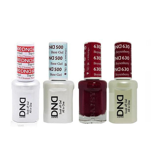 DND - #500#600 Base, Top, Gel & Lacquer Combo - Boysenberry - #630-Beyond Polish