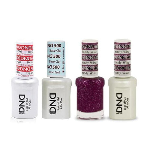 DND - #500#600 Base, Top, Gel & Lacquer Combo - Brandy Wine - #466-Beyond Polish