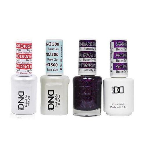DND - #500#600 Base, Top, Gel & Lacquer Combo - Butterfly World FL - #564-Beyond Polish