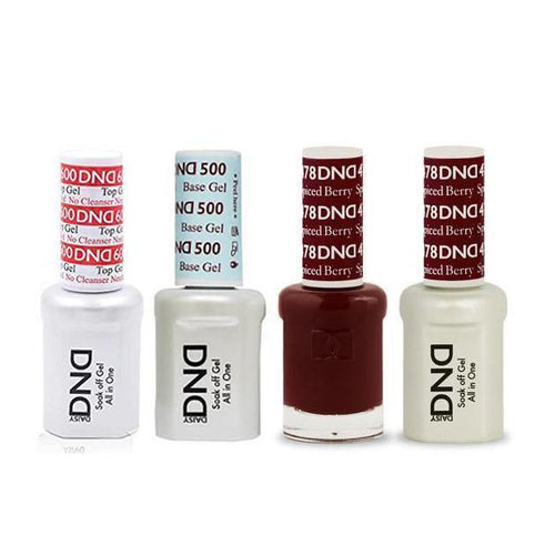 DND - #500#600 Base, Top, Gel & Lacquer Combo - Spiced Berry - #478-Beyond Polish