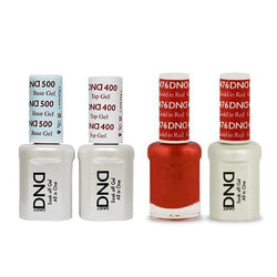 DND - Base, Top, Gel & Lacquer Combo - Gold in Red - #476-Beyond Polish