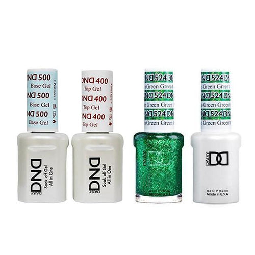 DND - Base, Top, Gel & Lacquer Combo - Green to Green - #524-Beyond Polish