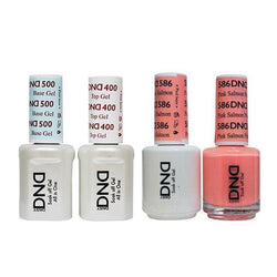 DND - Base, Top, Gel & Lacquer Combo - Pink Salmon - #586-Beyond Polish