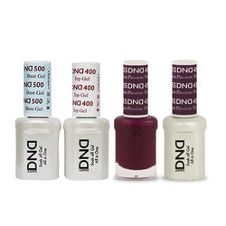 DND - Base, Top, Gel & Lacquer Combo - Plum Passion - #455-Beyond Polish
