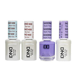 DND - Base, Top, Gel & Lacquer Combo - Purple Passion - #543-Beyond Polish