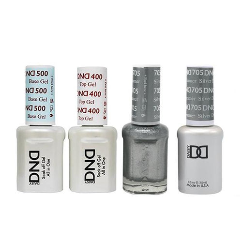 DND - Base, Top, Gel & Lacquer Combo - Silver Dreamer - #705-Beyond Polish