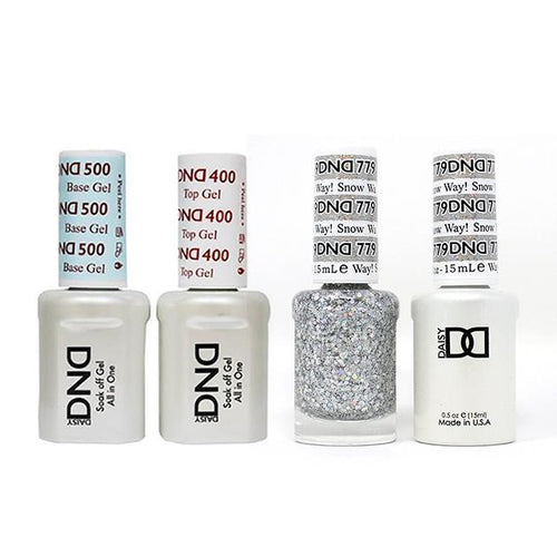DND - Base, Top, Gel & Lacquer Combo - Snow Way! - #779-Beyond Polish