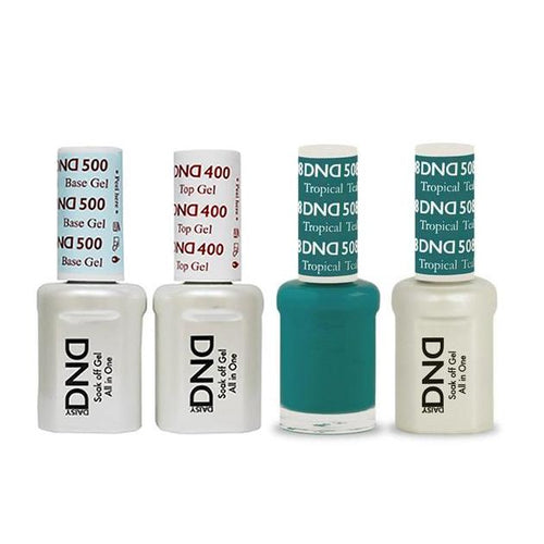 DND - Base, Top, Gel & Lacquer Combo - Tropical Teal - #508-Beyond Polish
